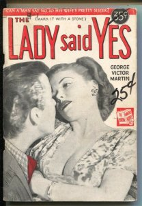Avon Monthly Novels #43 1949-The Lady Said Yes-George Martin Victor-VG