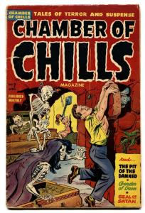 Chamber of Chills #7 violent pre-code horror-SOTI-decapitations-flaming flesh