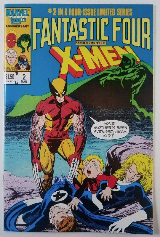 Fantastic Four Versus The X-Men 1987 Complete Run 1,2,3 & 4 High Grade Claremont