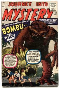 JOURNEY INTO MYSTERY #60-1960-MARVEL-KIRBY & DITKO-BOMBU-VG