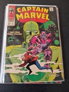 Captain Marvel #8 Marvel Silver Age Comic 1968 Drake Don Heck Gene Colan Cover
