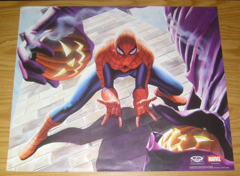 Spider-Man vs Green Goblin poster - 27 x 22 - alex ross - diamond select 2002