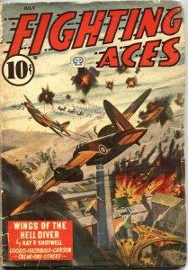 FIGHTING ACES-JULY 1944-DAVID GOODIS-CANADIAN VARIANT-WW II PULP THRILLS-POPULAR