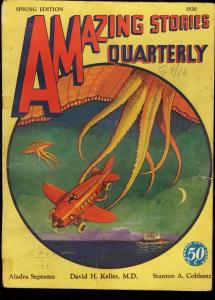 AMAZING STORIES QUARTERLY 1930 SPG-EARLY SCI-FI G