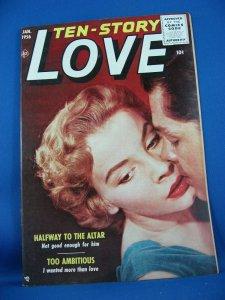 TEN STORY LOVE Vol 34 #4 VF NM 1954 Photo Cover