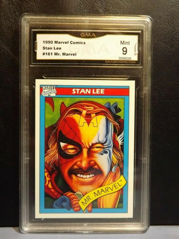 1990 Marvel Comics Trading Card #161 STAN LEE MR. MARVEL Graded MINT 9 RARE!!