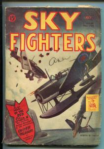SKY FIGHTERS 5/1944-AIR WAR PULP-THRILLS-WWII-CANADIAN VARIANT-vg minus
