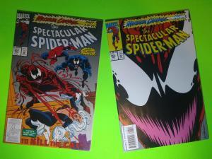 MAXIMUM CARNAGE #5 & #13 OF 14 SPECTACULAR SPIDER-MAN 201, 203 HIGHGRADE