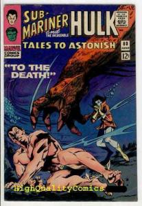 TALES To ASTONISH #80, FN, Jack Kirby, Hulk, Sub-Mariner, Sivler age