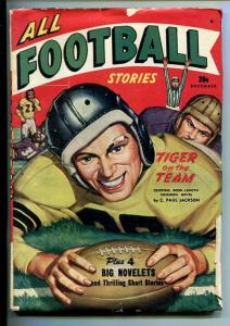 ALL FOOTBALL STORIES-#1-DEC 1947-PULP ACTION-SOUTHERN STATES PEDIGREE-vg+