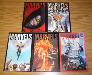 Marvels #0 & 1-4 VF/NM complete series - second prints - kurt busiek - alex ross