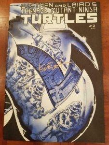 TEENAGE MUTANT NINJA TURTLES #2, NM, Signed by Kevin Eastman, 1985, 2nd, TMNT