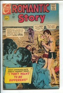 Romantic Story #95 1968- Charlton-Beach party cover & story -Rooftop Romeo-VG