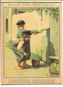 Morrell's Mark Twain Calendar-1940's-12 Norman Rockwell prints-no date portion-G