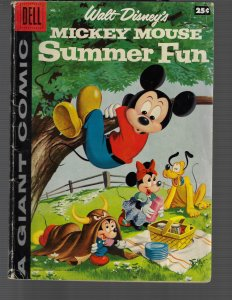 Mickey Mouse: Summer Fun #1 (Dell, 1958) VG/FN