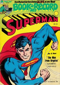 Superman Book and Record Set The man from Krypton Superman's origin Story