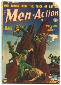 Men In Action #8 1952- ATLAS WAR COMIC- Jay Scott Pike G-