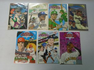 Sports Superstars comic lot 14 different 8.0 VF (1991-93)