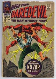 Daredevil #24 ORIGINAL Vintage 1967 Marvel Comics Ka Zar