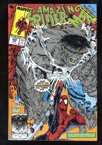 Amazing Spider-Man #328 NM- 9.2 vs Hulk! Todd McFarlane Art!