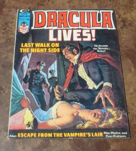 Dracula Lives #8 VG/FN 1974 Horror Magazine Vampires Lair Walk on Night Side