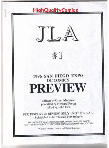 JLA #1 Black and White Promo, Green Lantern, 1996, VF/NM, Preview, more in store