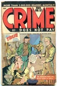 CRIME DOES NOT PAY #57-TORTURE COVER-BONNIE PARKER 1947 VG