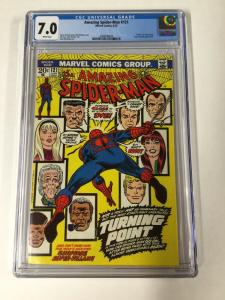 Amazing Spider-man 121 Cgc 7.0 White Pages Death Of Gwen Stacy Marvel