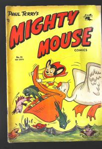 Mighty Mouse (1947 Series) #55, VG- (Actual scan)