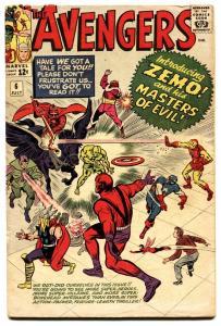 Avengers #6 comic book 1963-Marvel-First Zemo-Captain America-thor-iron Man