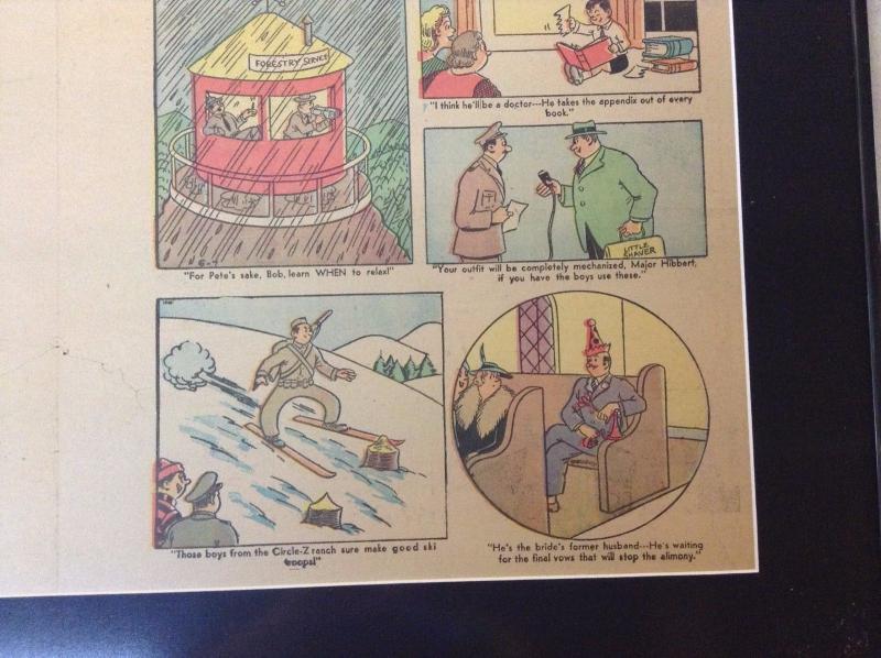 Tarzan Original Newspaper Comic Strip 1942 Atlanta Journal Framed & Matted BNT