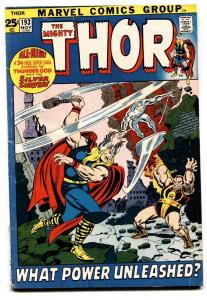 THOR #193 1971--MARVEL COMICS-SILVER SURFER-GERRY CONWAY vg