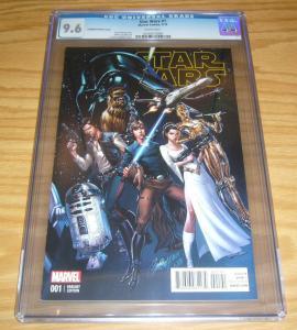 Star Wars #1 CGC 9.6 marvel comics - j. scott campbell variant (1:50) 2015 new