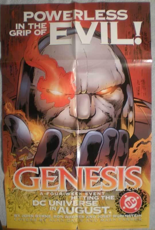 GENESIS Promo poster, 22x34, 1997, Unused, Darkseid, more Promos in store