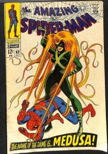 Amazing Spider-Man #62 VG+ 4.5 Medusa!