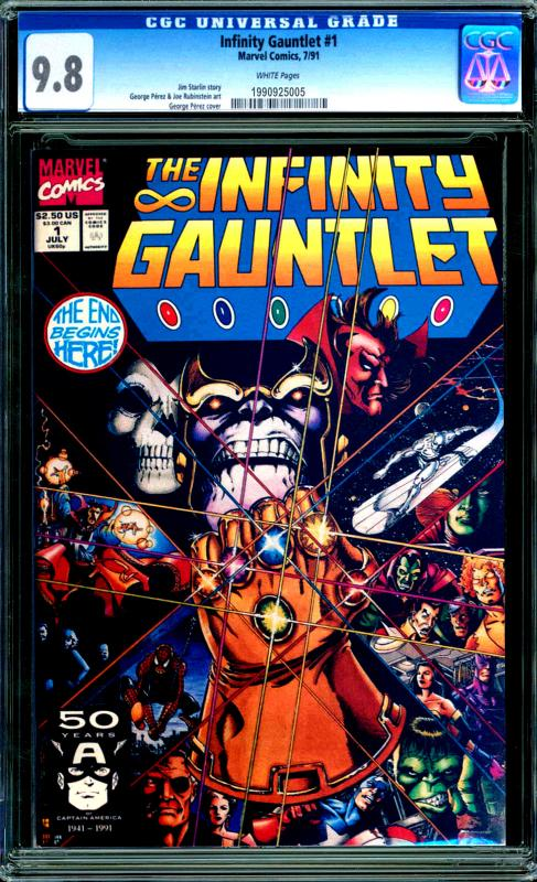 The Infinity Gauntlet #1 CGC Graded 9.8