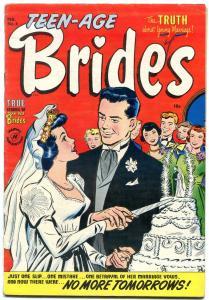 Teen-Age Brides #4 1954- Harvey Golden Age Romance- Wedding Cake cover FN-