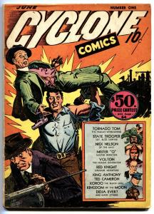 Cyclone Comics #1-1940-First issue-Human Whirlwind-comic book