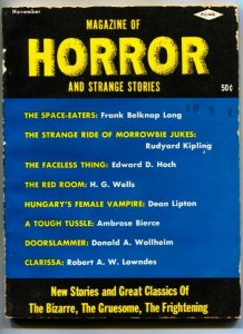 MAGAZINE OF HORROR AND STRANGE STORIES-PULP FICTION-NOV 1963--#2