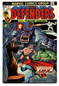 THE DEFENDERS #11 comic book 1973 Iron Man - Hulk - Dr. Strange