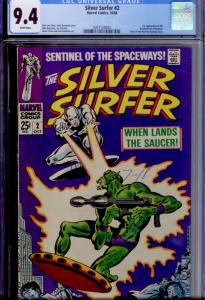 Silver Surfer #2 CGC 9.4 WHITE pages  1st appearance of the Badoon