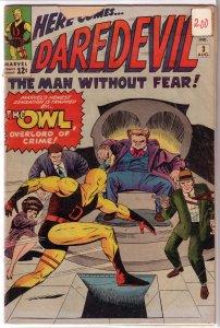 Daredevil   vol. 1   #  3 FR/GD