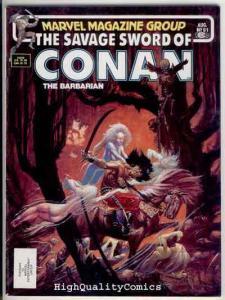 SAVAGE SWORD of CONAN #91, FN+, Val Mayerik, Beast, Buscema, more SSOC in store