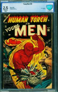 Young Men #28 CBCS 2.5-1954-RARE Last issue-Captain America-Human Torch