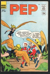 Pep #157 1962- Archie-Betty-Veronica-sci-fi cover-Jaguar superhero story-VG