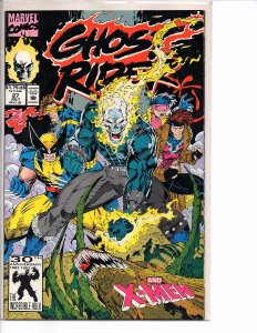 Marvel Comics Ghost Rider (Vol. 2) #27 X-men Wolverine Brood Jim Lee Cover