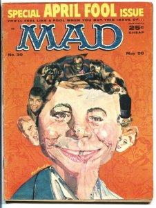 MAD MAGAZINE #39-APRIL FOOL ISSUE-WOOD-ORLANDO-DRUCKER-1958 FR