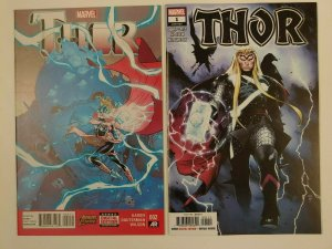 Thor #1 2020 Donny Cates, Cover A & Thor #2 1st full Jane Foster Thor both NM!