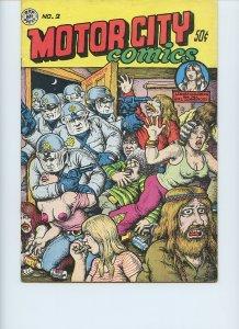 MOTOR CITY COMICS #2 / 1st Printing / 1970 / 28 pages / Rip Off Press