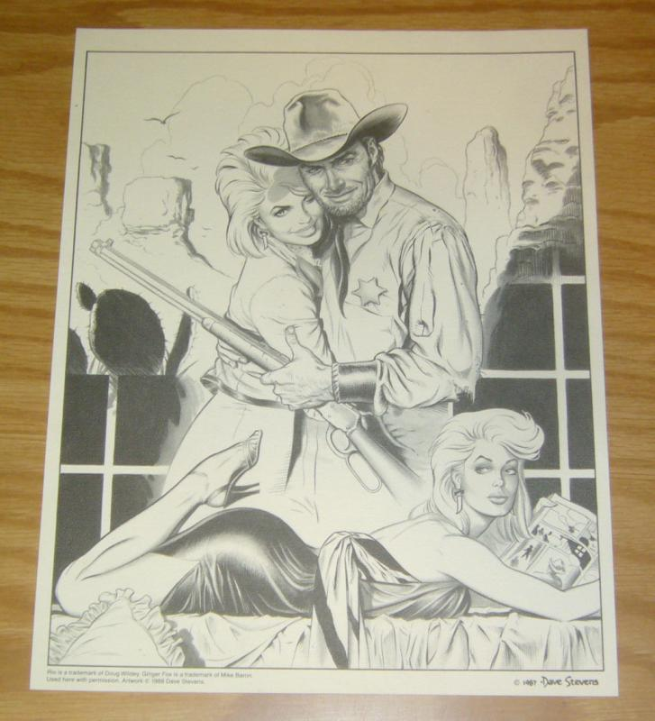 Doug Wildey's Rio print by Dave Stevens - with mike baron's ginger fox